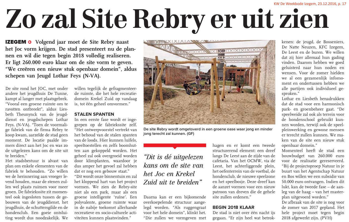 KW De Weekbode Izegem, 23.12.2016, p. 17