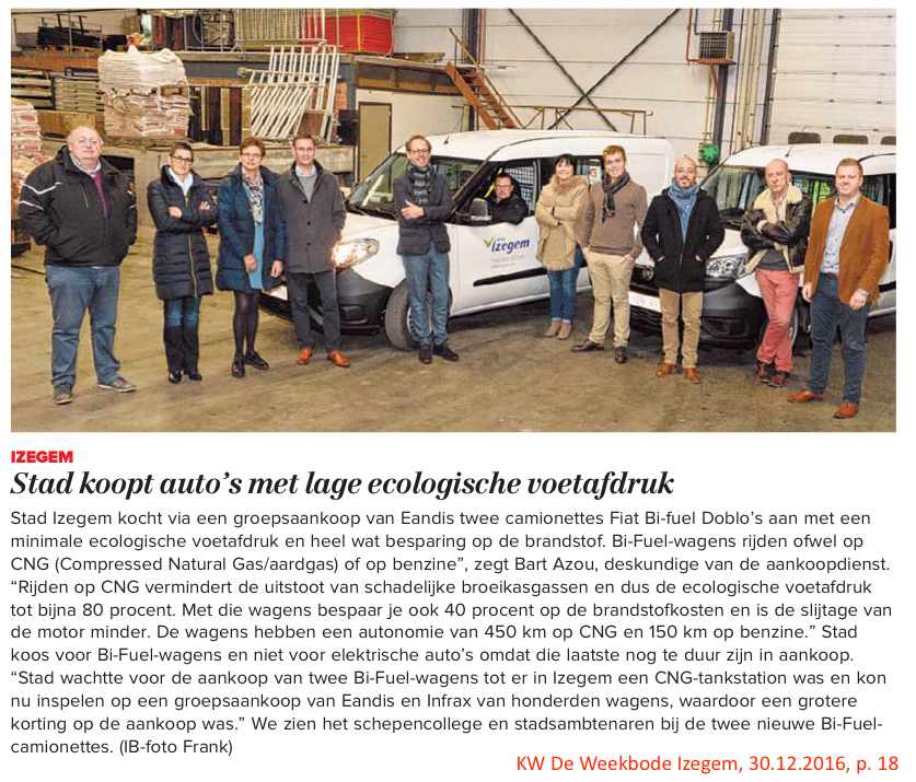 KW De Weekbode Izegem, 30.12.2016, p. 18