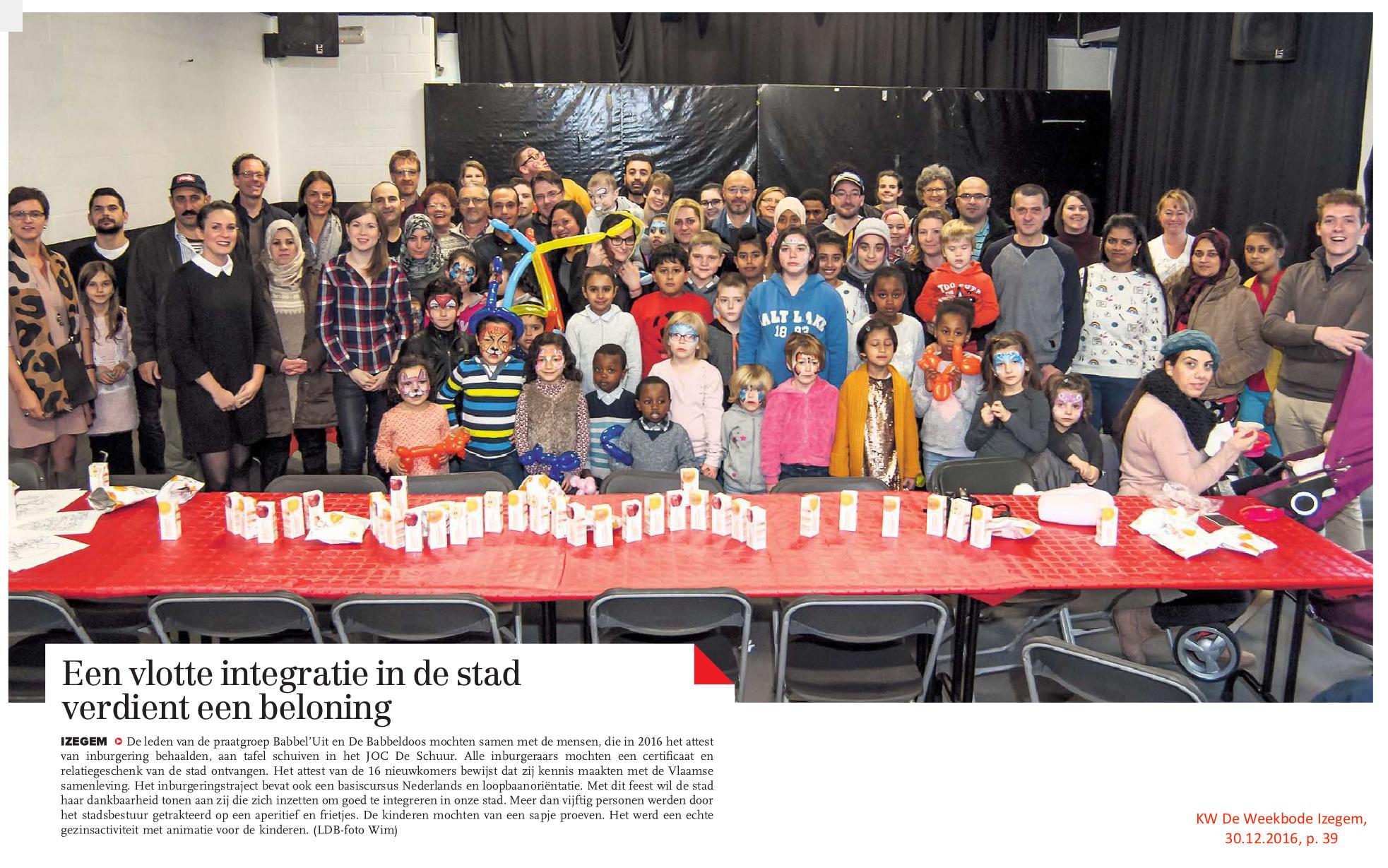 KW De Weekbode Izegem, 30.12.2016, p. 39