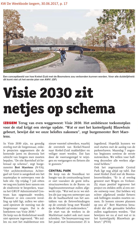 KW De Weekbode Izegem, 30.06.2017, p. 17