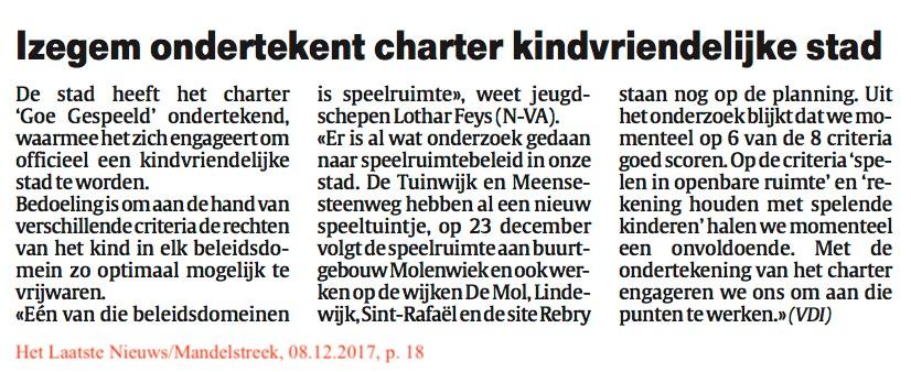 Het Laatste Nieuws/Mandelstreek, 08.12.2017, p. 18